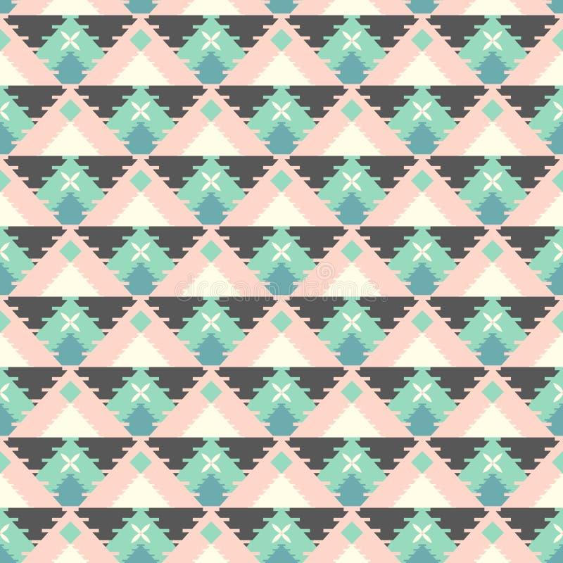 Geometryczny plemienny wzór royalty ilustracja