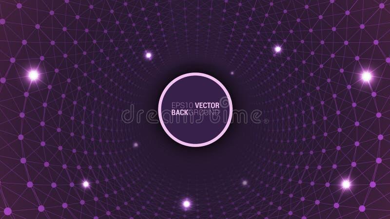 Geometryczny plexus robić dziurę up ilustracji