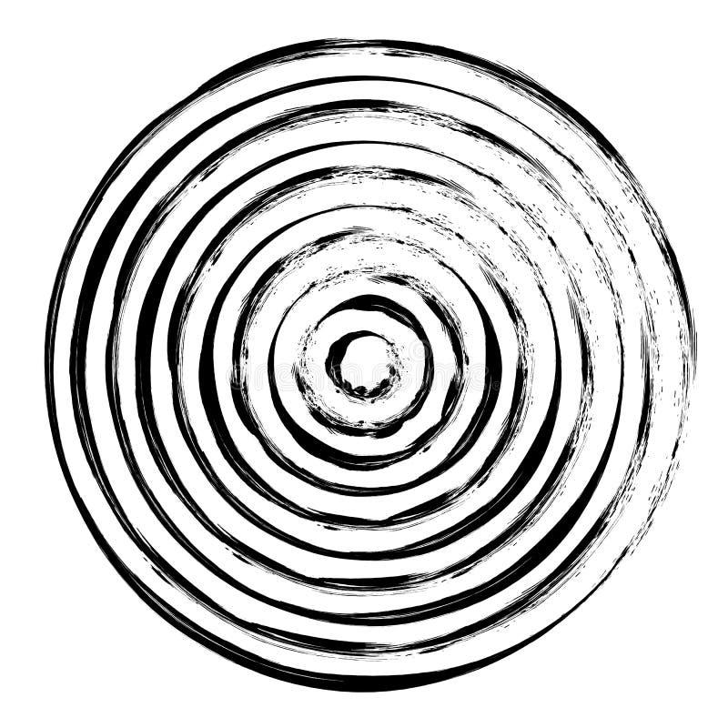 Geometryczny promieniowy element ilustracji
