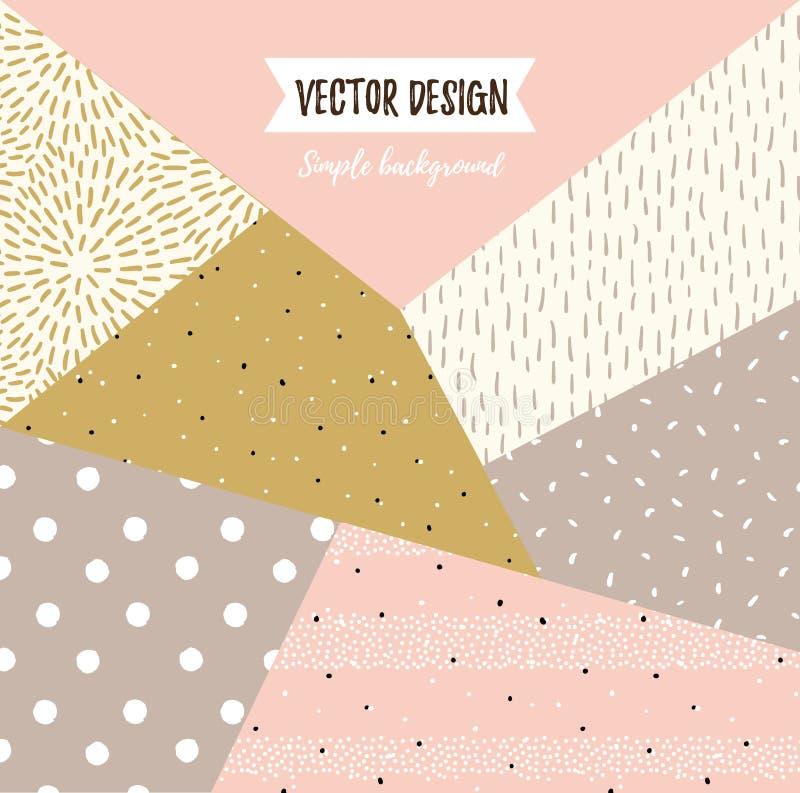Geometryczny prosty textured ogólnoludzki tło Wektorowa wektorowa ilustracja dla twój projekta ilustracja wektor