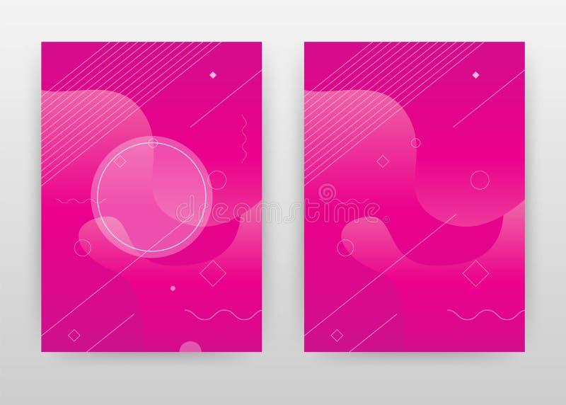 Geometryczny purpurowy magenta biznesowy projekt dla sprawozdania rocznego, broszurka, ulotka, plakat Geometryczny magenta tło we royalty ilustracja