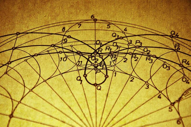 Geometryczny rysunek obrazy royalty free