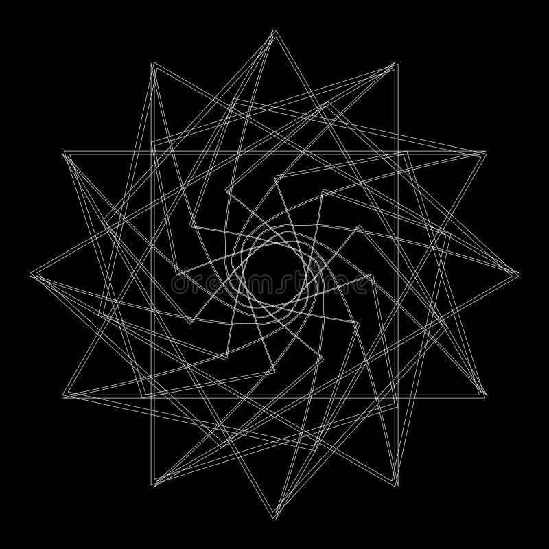 Geometryczny set gra główna rolę i kwitnie dla prezentów i wakacje deseniują EPS10 royalty ilustracja