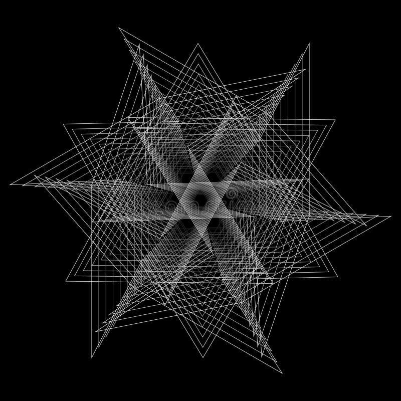 Geometryczny set gra główna rolę i kwitnie dla prezentów i wakacje deseniują wektor EPS10 royalty ilustracja