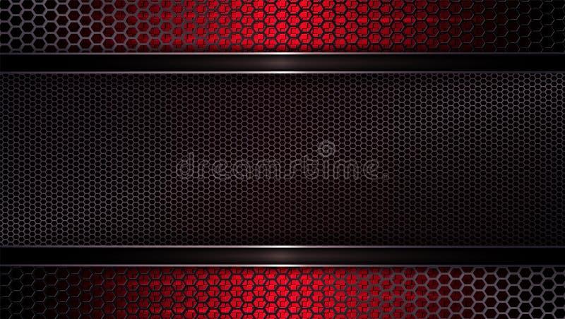 Geometryczny siatki tło zmrok - czerwony odcień royalty ilustracja