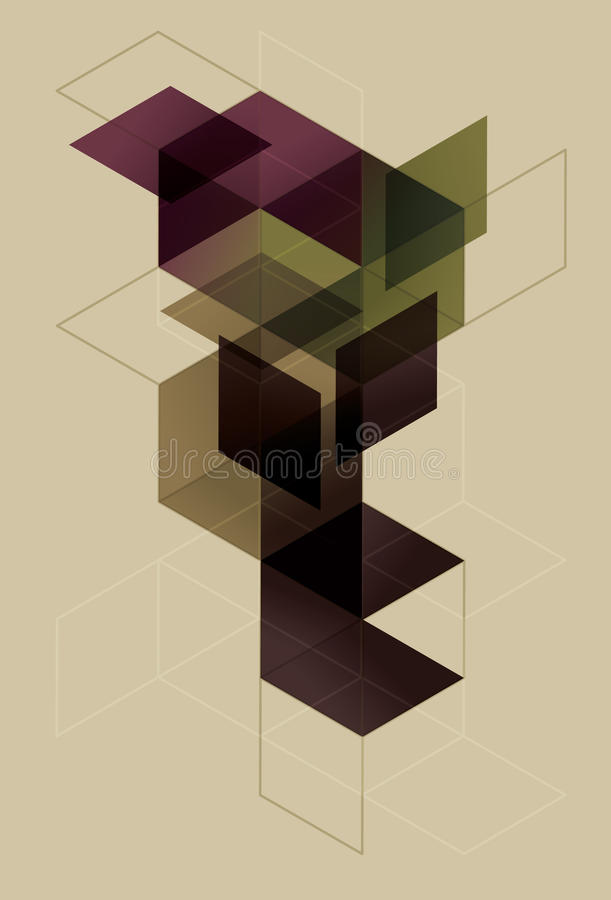 geometryczny tło sześcian ilustracja wektor