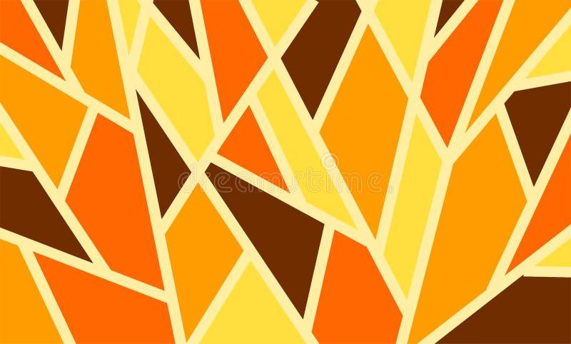Geometryczny tło wzór trójboki, jaskrawi barwioni kształty zdjęcia stock