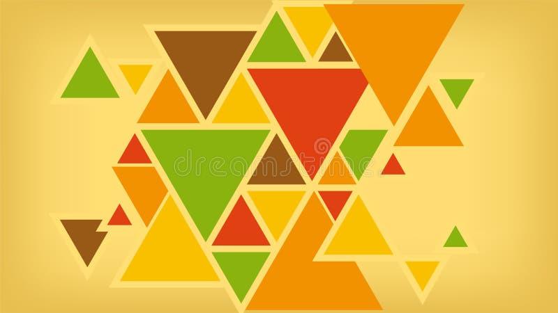 Geometryczny t?o tr?jboki, jaskrawi barwioni kszta?ty obraz royalty free