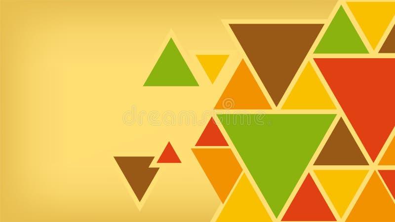 Geometryczny t?o tr?jboki, jaskrawi barwioni kszta?ty obraz stock
