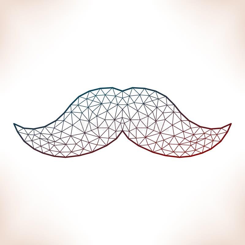 Geometryczny wąsy ilustracja wektor