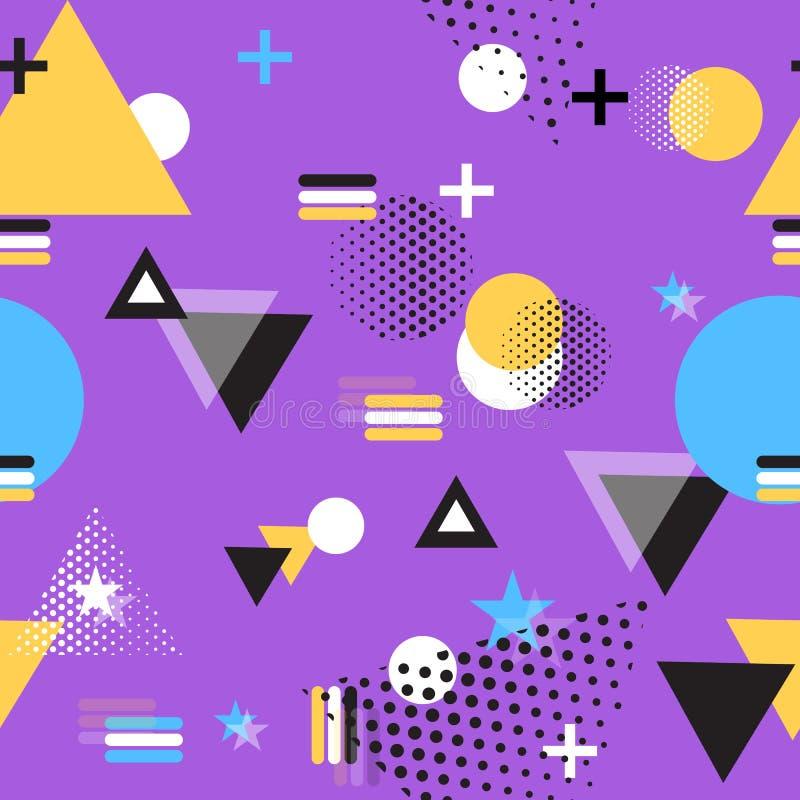 Geometryczny Wektorowy Ilustracyjny Purpurowy tło ilustracja wektor