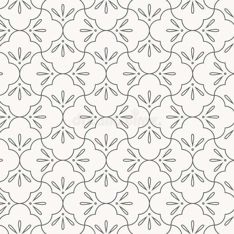 Geometryczny wektoru wzór, wielostrzałowy liniowy przyrodni okrąg łączący jako abstrakcjonistyczni płatki kwitnie Graficzny czyśc royalty ilustracja