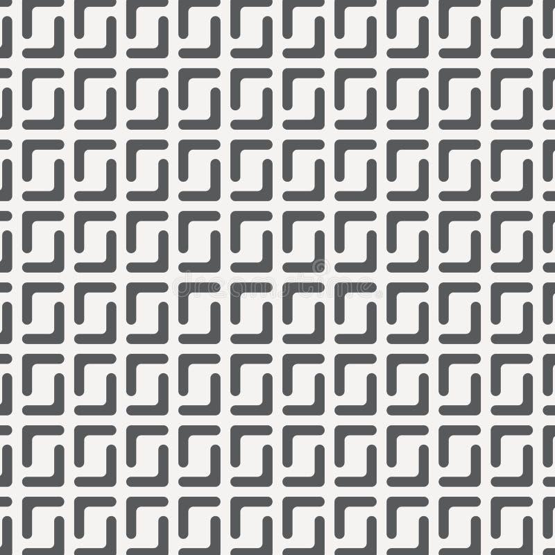 Geometryczny wektoru wzór, wielostrzałowa tekstura lampas linia na prostokąta kształcie, przerzedże kolor z czarny i biały Wzór j ilustracja wektor
