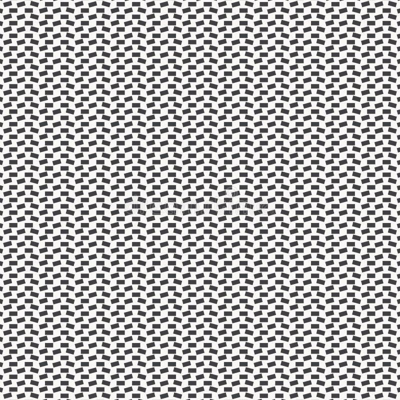 Geometryczny wystroju wektoru wzór, wielostrzałowy mały prostokąt w each kąty monochromatyczny elegancki wektorowy czyści dla dru ilustracji