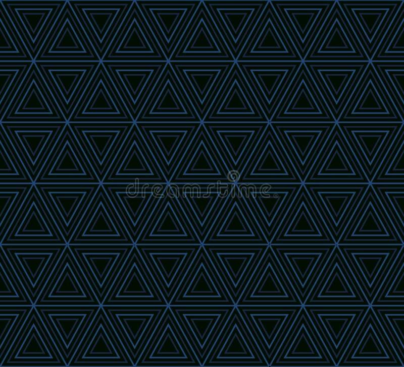 Geometryczny wzór gniazdujący trójboki ilustracja wektor