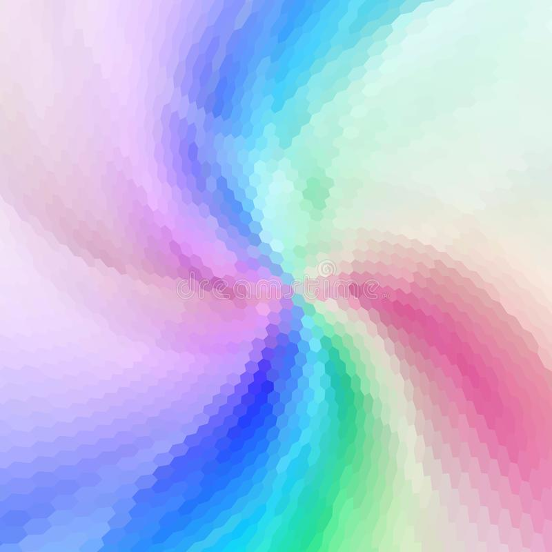 geometryczny wzór Kolorowego nieskończoności abstrakcjonistycznego honeycomb geometrical tło Sexangle, sześciokąta tło wektor ilustracja wektor