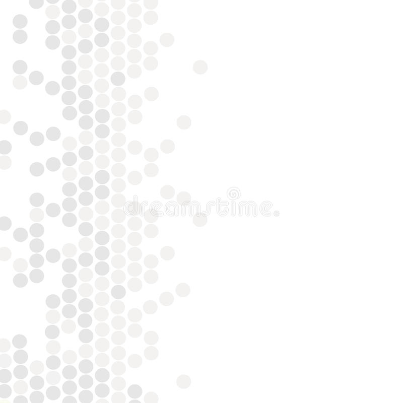 geometryczny wzór Nowożytna tekstura w monochromu Siwieję kropkował projekt Eleganckie płytki okręgi Abstrakcjonistyczny tło na k ilustracji