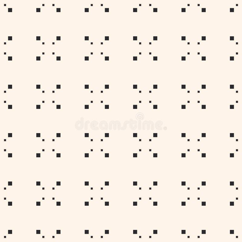 Geometryczny wzór z małymi kwadratami, piksel sztuki tekstura royalty ilustracja