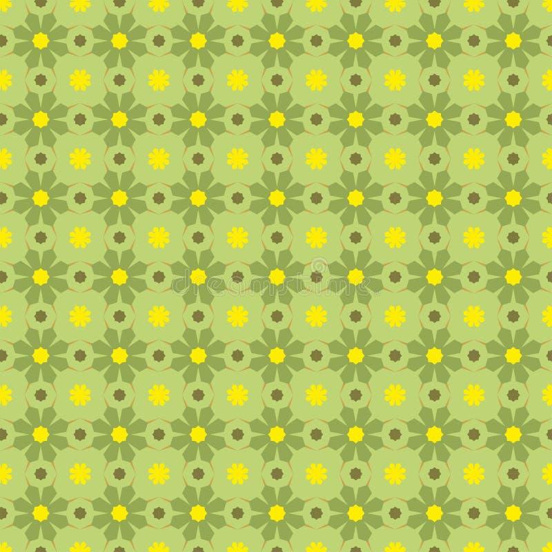 geometryczny zieleni wzoru seamles wektor ilustracji