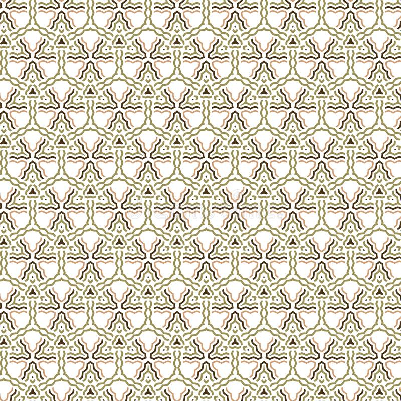 Geometrycznych Neutralnych kolorów siatki lampasa wzoru Bezszwowy Abstrakcjonistyczny tło ilustracji