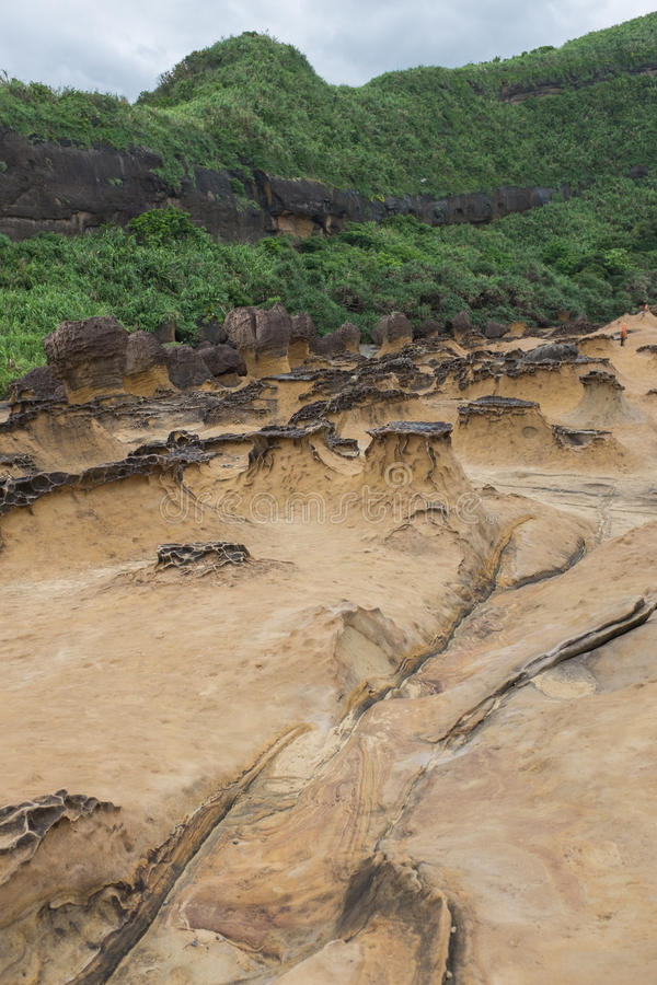Geopark de Yehliu em Taiwan imagem de stock royalty free