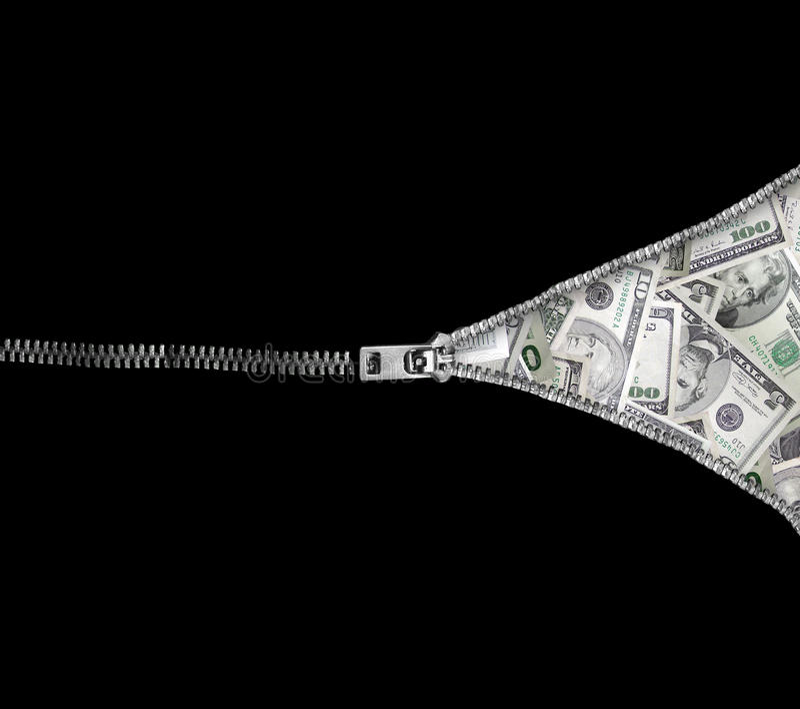 Geopenbaard contant geld royalty-vrije stock fotografie