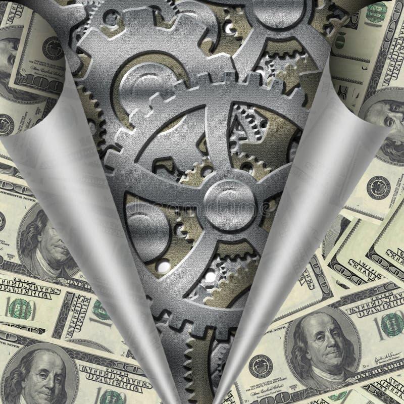 Geopenbaarde de Machine van het geld stock illustratie