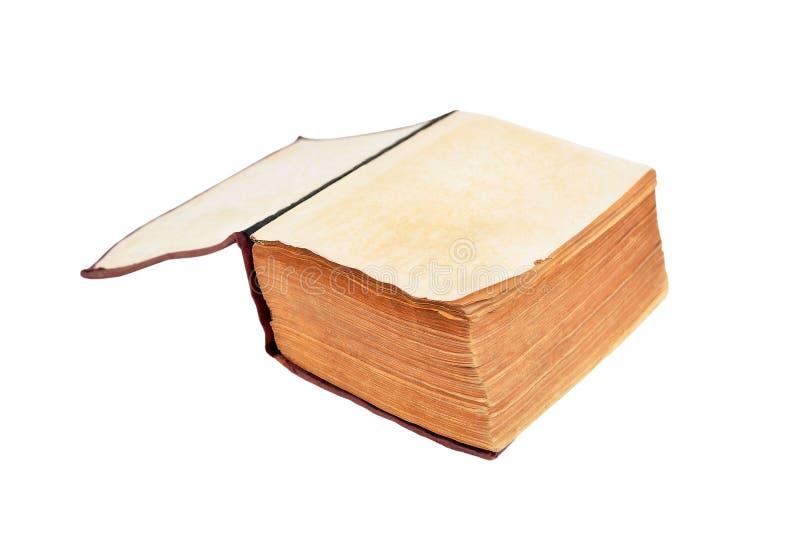 Geopend antiek boek stock fotografie