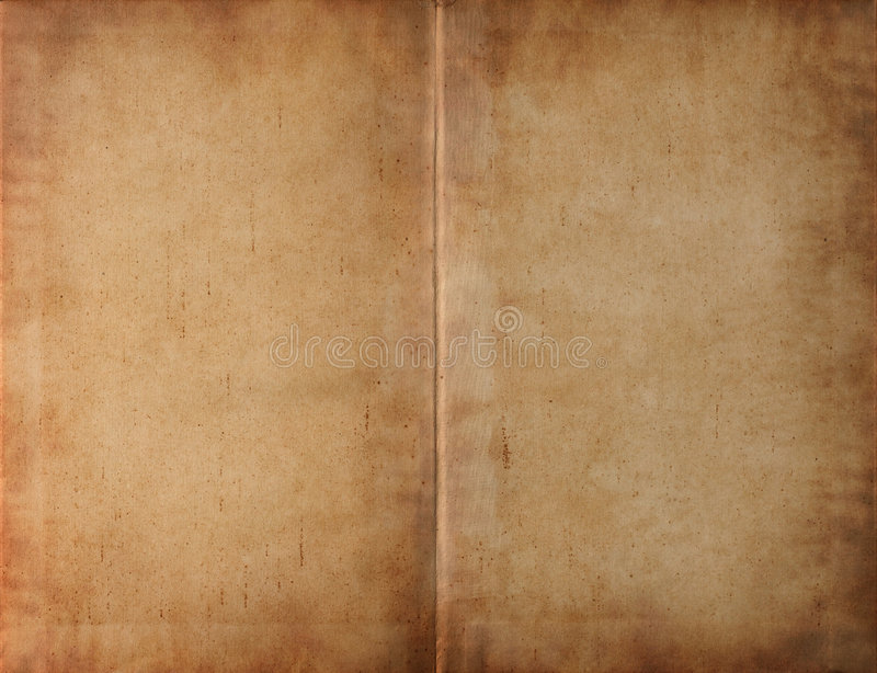 Geopend boek donker bevlekt document royalty-vrije stock foto's