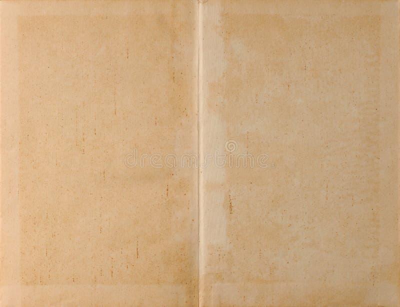 Geopend boek licht document stock afbeelding