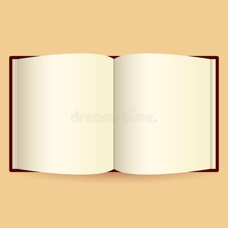 Geopend boek op witte photo-realistic vectorillustratie royalty-vrije illustratie