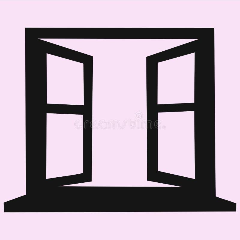 Geopend leeg raamkozijn vector illustratie