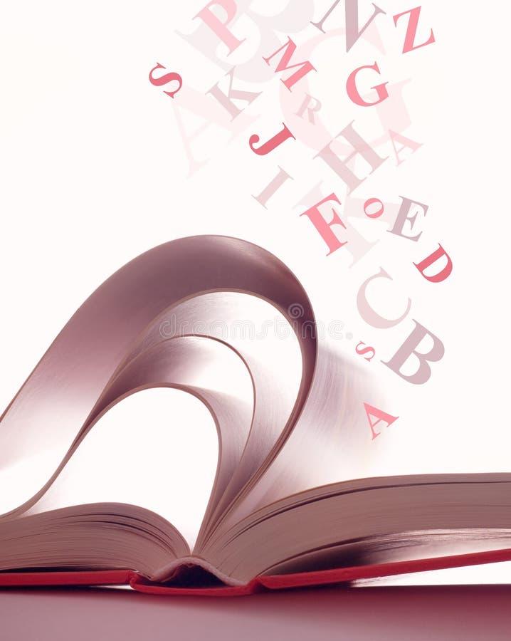 Geopend magisch boek royalty-vrije illustratie