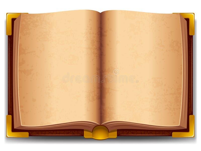 Geopend oud boek vector illustratie