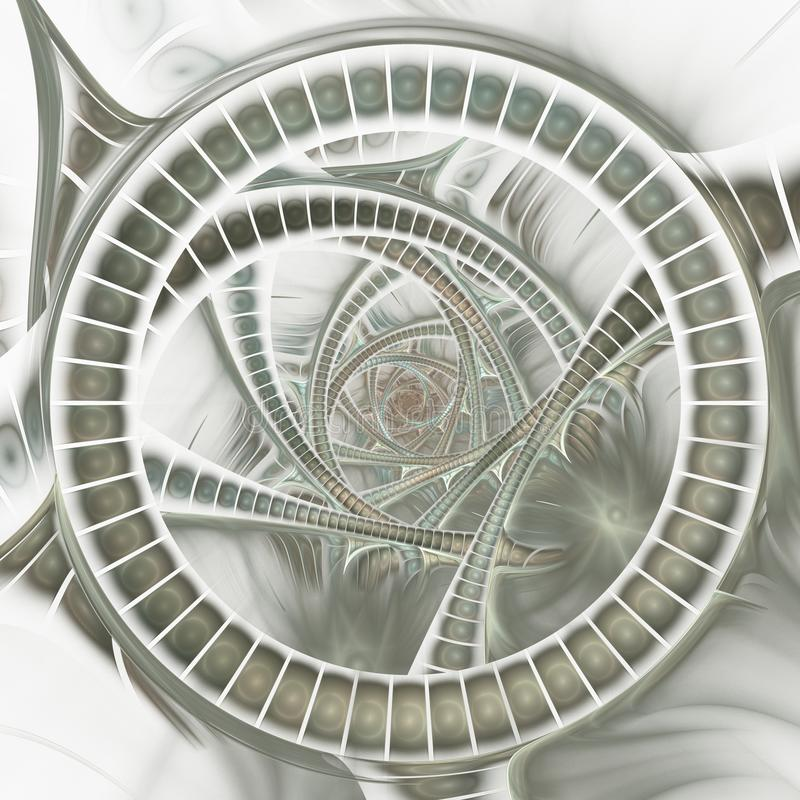 Geopend portaal Door de computer geproduceerd beeld vector illustratie