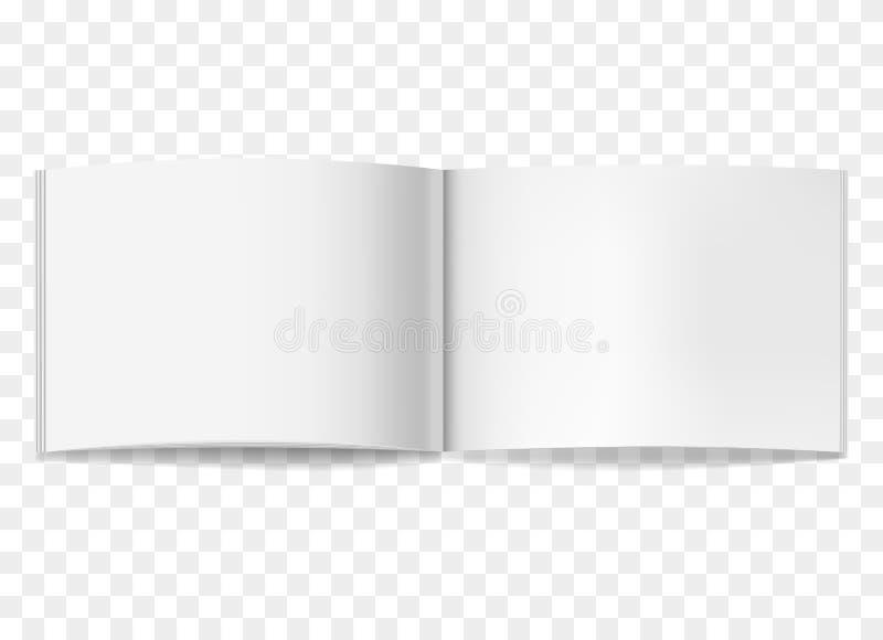 Geopend wit horizontaal brochuremodel vector illustratie