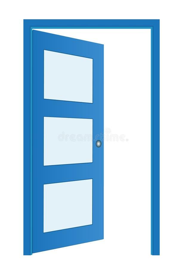 Geopende deur - pictogram stock illustratie