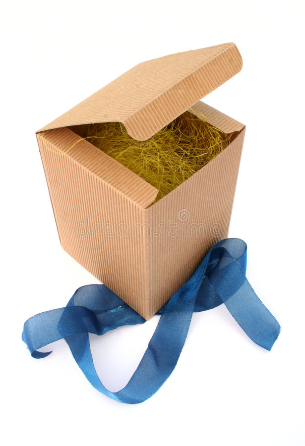 Geopende doos stock afbeelding