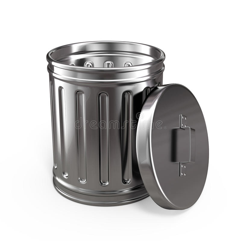 Geopende vuilnisbak royalty-vrije illustratie
