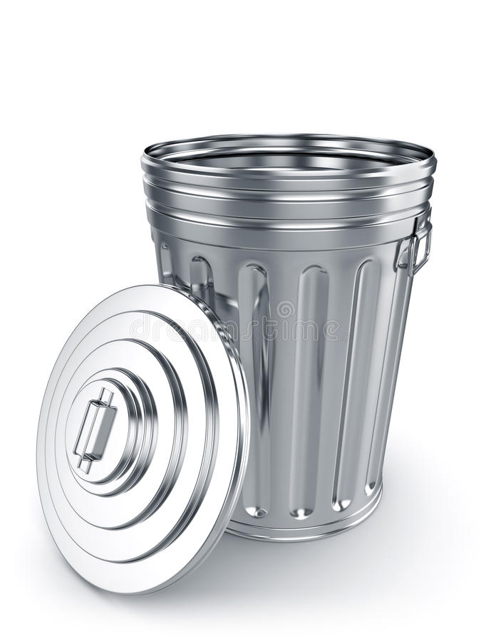Geopende vuilnisbak stock illustratie
