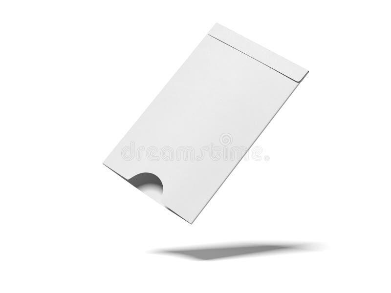 Geopende witte envelop het 3d teruggeven stock illustratie