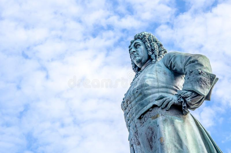 Georg Friedrich Handel statua w Halle Saale obrazy royalty free