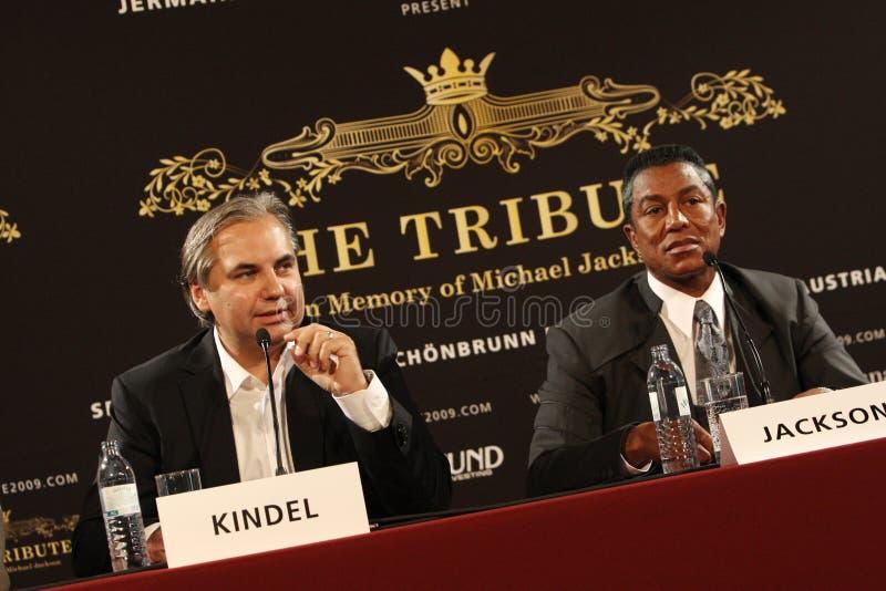 Georg Kindel et Jermaine Jackson photos stock