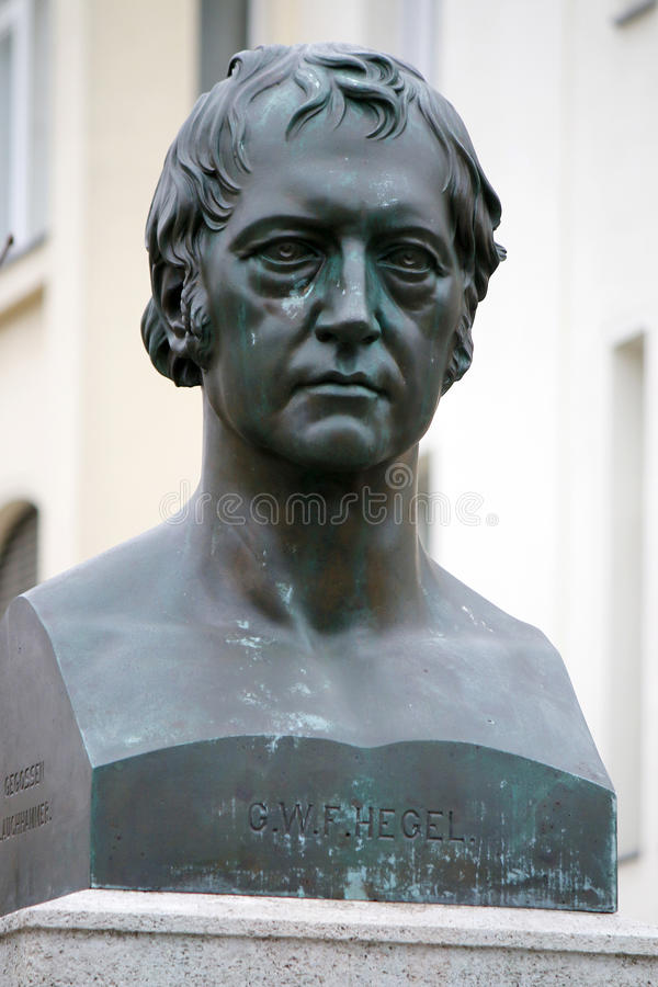 Georg Wilhelm Friedrich Hegel lizenzfreie stockfotografie