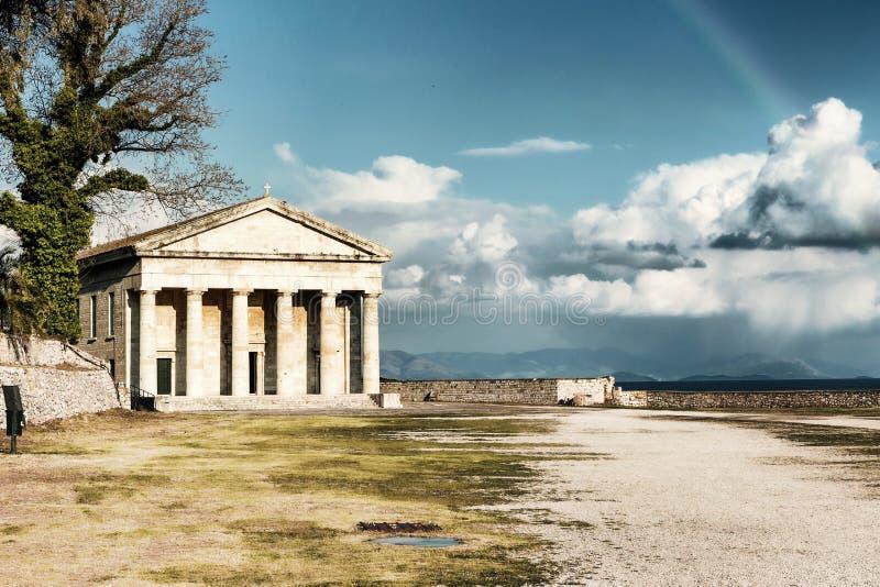 George świątobliwy Kościół, Stary Corfu fotografia royalty free