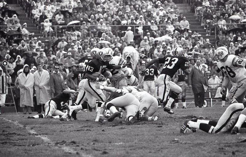 George Atkinson, devolvedor do pontapé dos Oakland Raiders imagem de stock