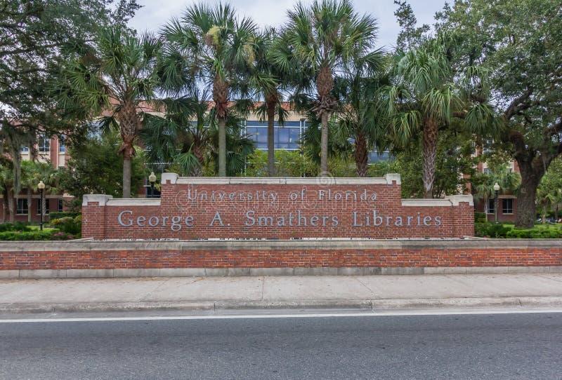George A Bibliothèques de Smathers à l'université de la Floride photos libres de droits