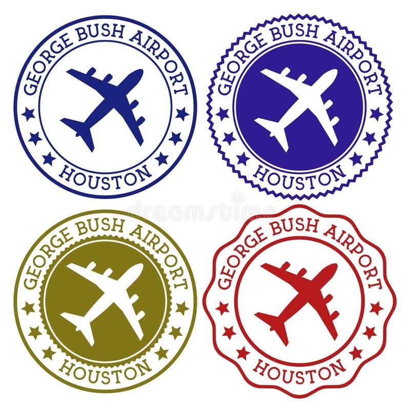 George Bush Airport Houston ilustración del vector