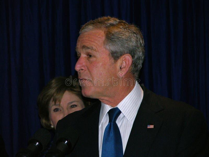 George Bush en Ukraine photo stock