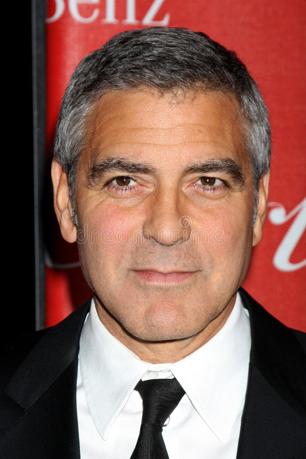 George Clooney. LOS ANGELES - JAN 7: George Clooney arrives at the 2012 Palm Springs International Film Festival Gala at Palm Springs Convention Center on royalty free stock photography
